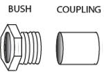 EVK (bush coupling and finished disk)