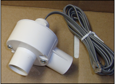 Inline airflow sensor, 90 degrees