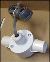 Inline airflow sensor, straight
